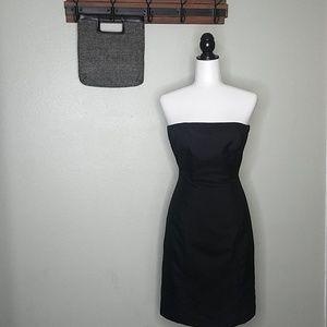 Ann Taylor Black Strapless Petite Dress Size 6P